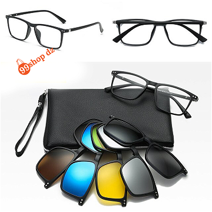 النظارات 6 في 1 البصرية مع عدسات خاصة بأشعة الشمس