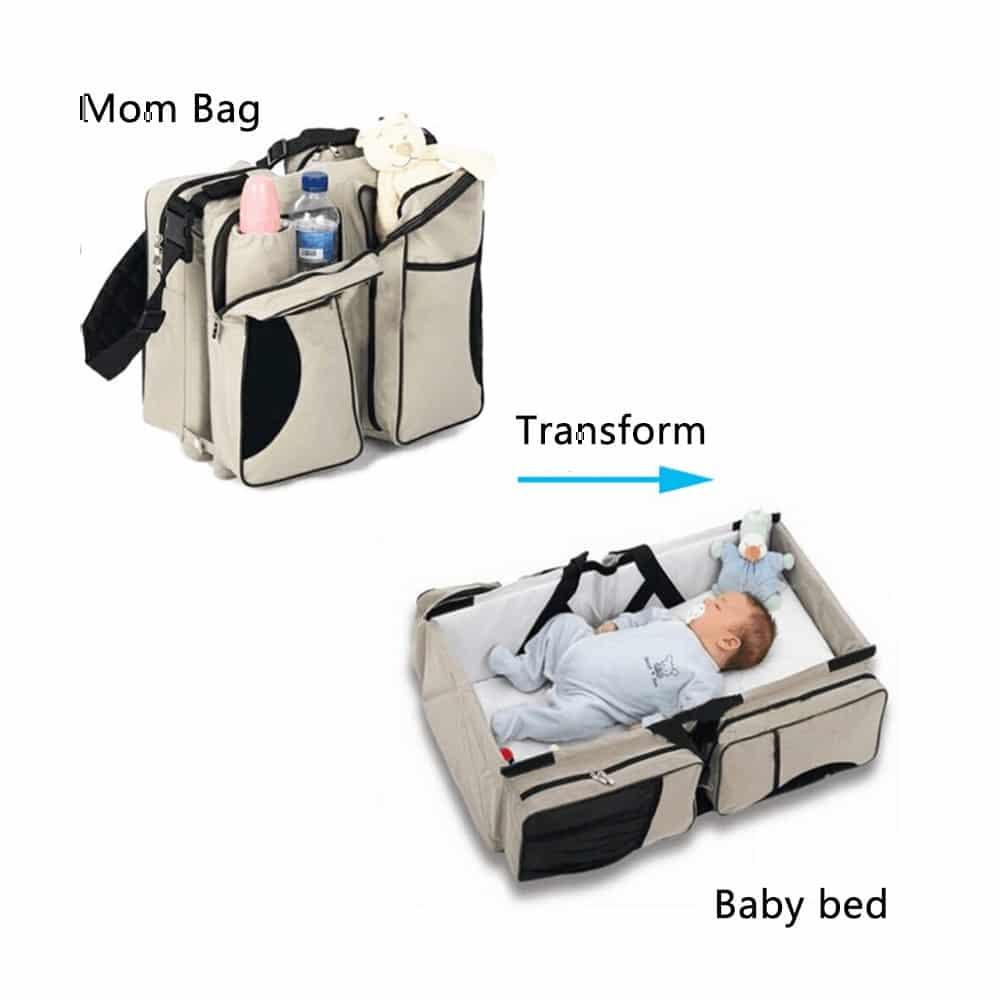 حقيبة الحضانة حقيبة و مهد متنقل مضاد للماء بجيوب حافظة للحرارة للعناية بطفلك في أي مكان