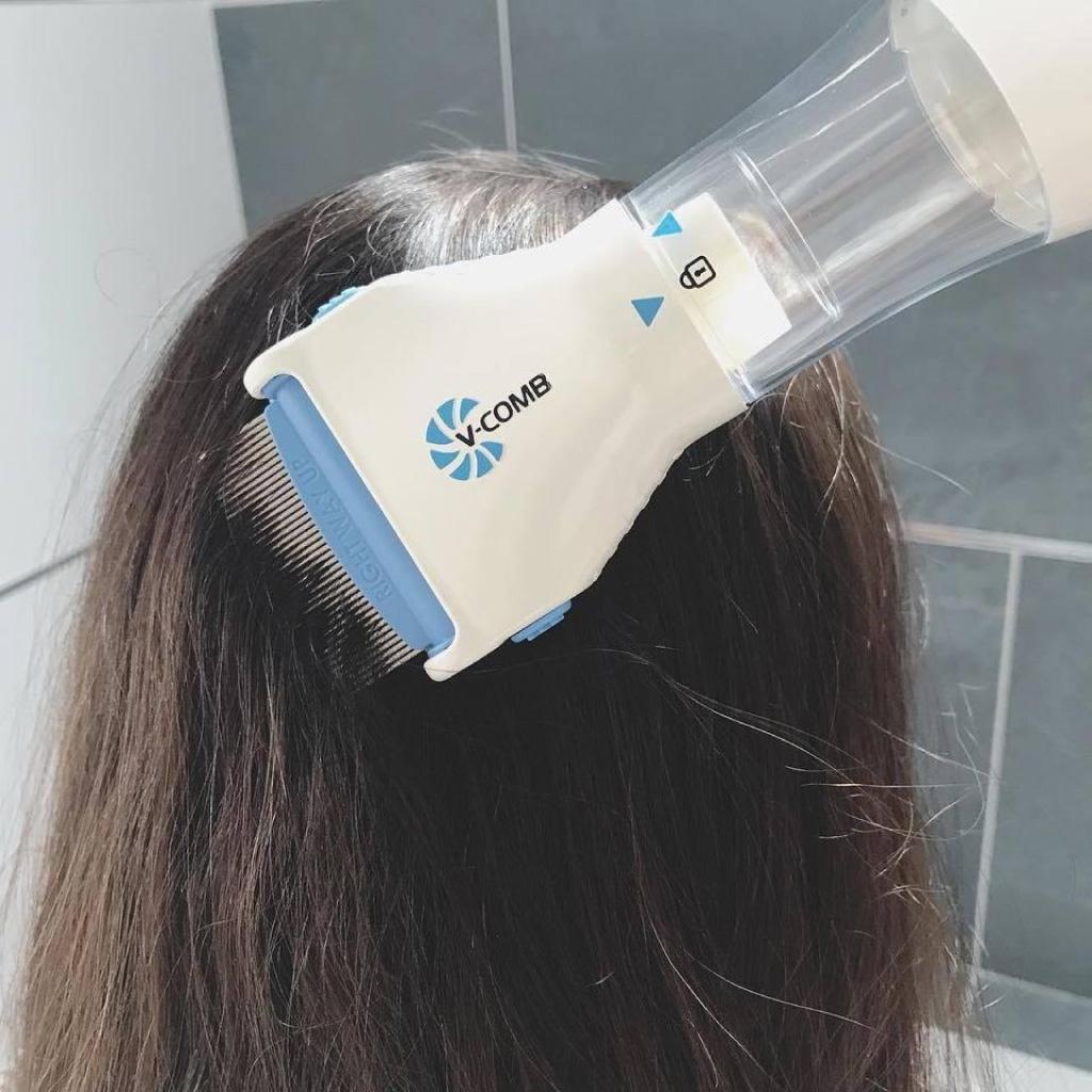 آلة شفط والتخلص من القمل القشرة وحكة الرأس نهائيا V-Comb™