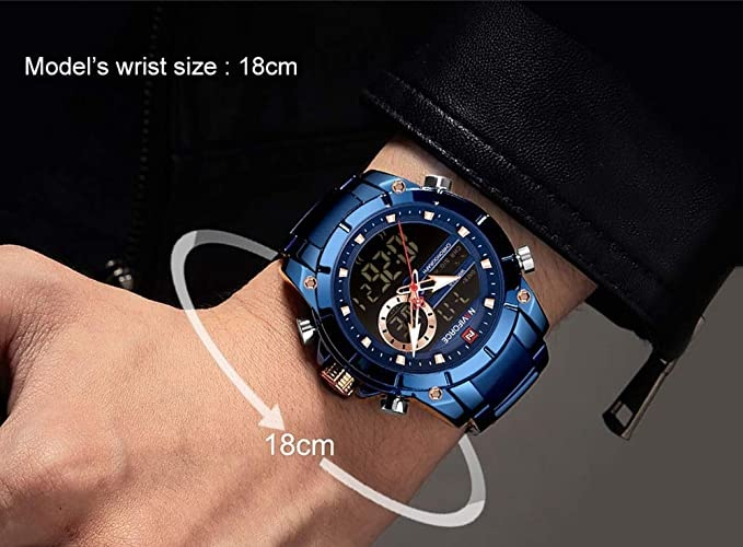 Montre Homme - Nf9163 Bleue- Bracelet Acier inoxydable