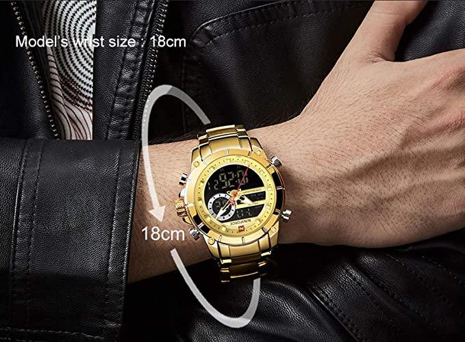Montre Homme - Nf9163 Dore- Bracelet Acier inoxydable