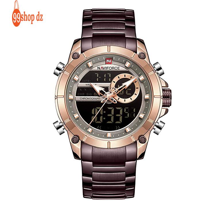 Montre Homme - Nf9163 Marron- Bracelet Acier inoxydable