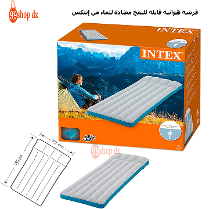 Intex Matelas Gonflable de Camping فرشة هوائية قابلة للنفخ مضادة للماء من إنتكس