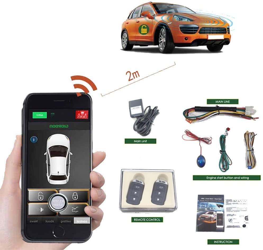 نضام مراقبة وتتبع السيارة عن  طريق الهاتف