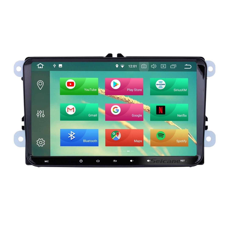 الشاشة الذكية لسيارة  golf5 - golf6 - touran - tiguan - caddy - passat b6 b7 -  jetta - skoda octavia - superb - seat leon 2