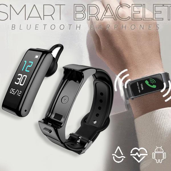 2-in-1 Smart Bracelet avec écouteurs Bluetooth