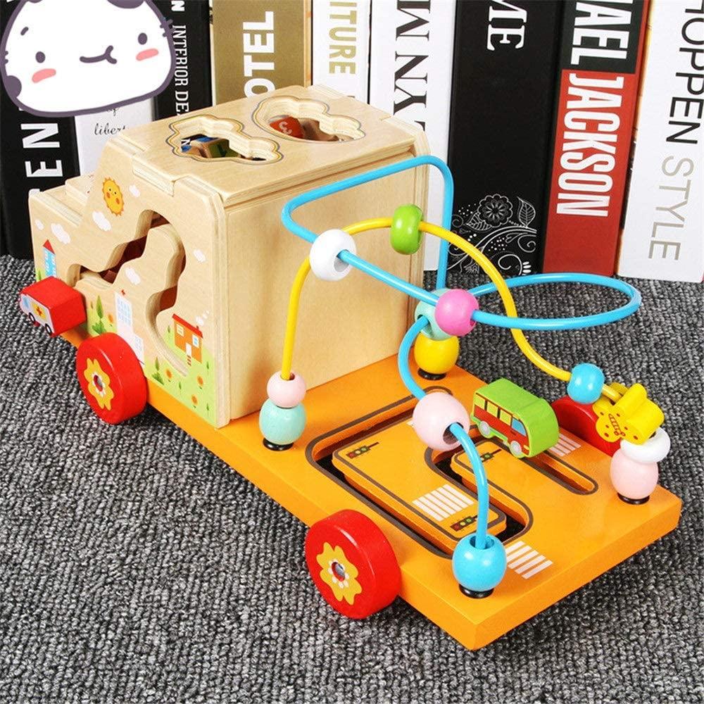 Jeu éducatif : Camion Montessori en bois pour enfant