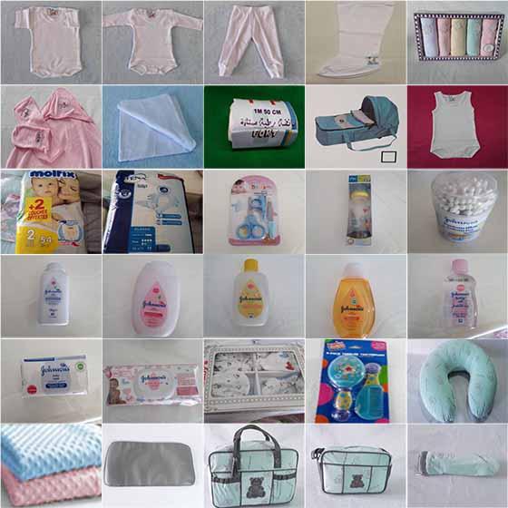 Pack Naissance + 40 produits pour le bébé et la maman LIVRAISON GRATUITE