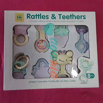 Pack Hochets RATTLES & TEETHERS 8 Pièces