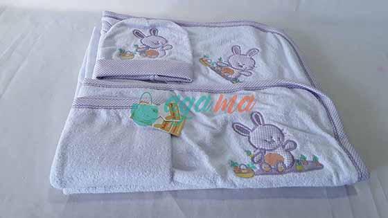 Cape sortie de bain bébé BabyMabrouk 4PCS