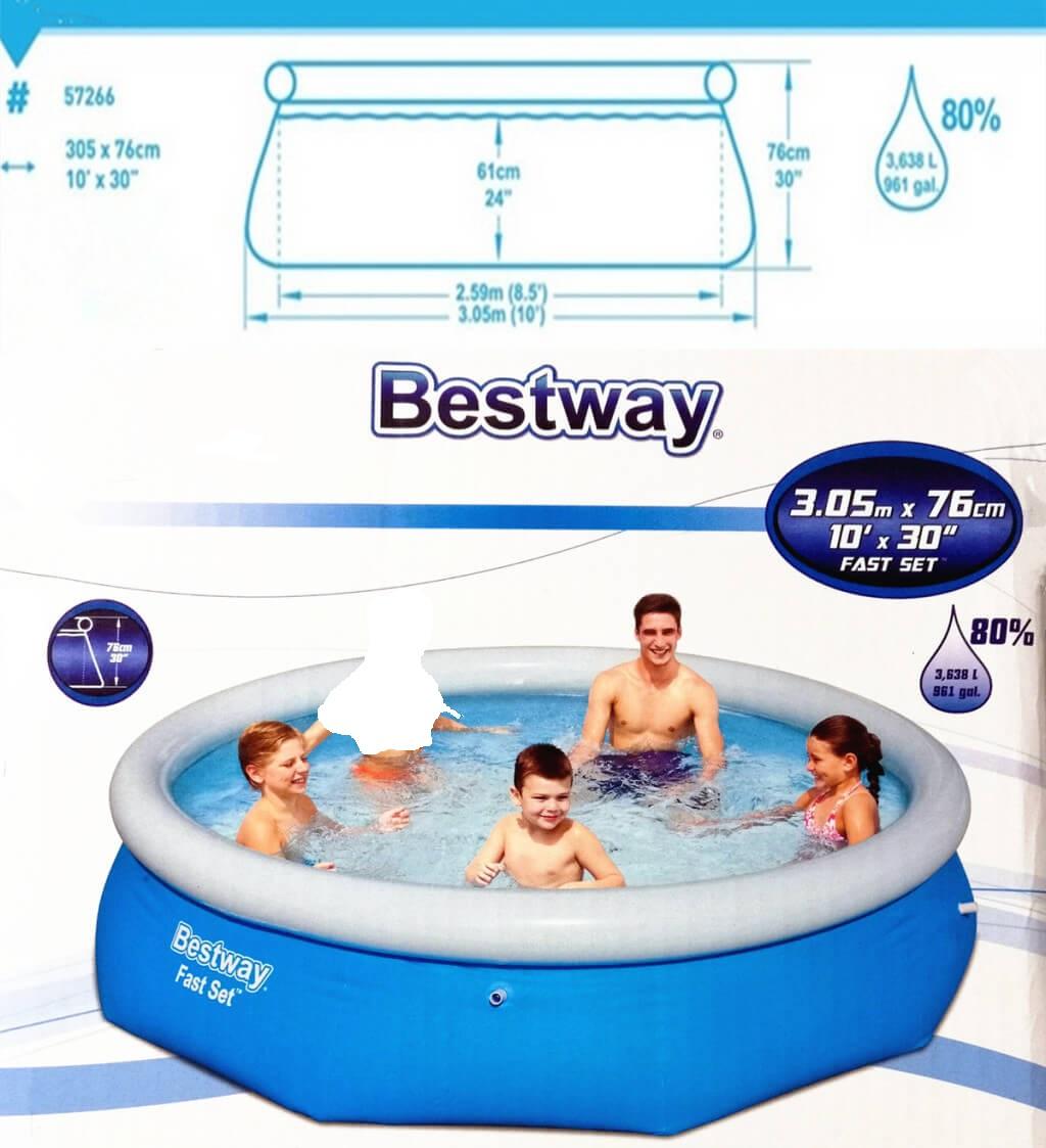 حوض السباحة المنزلي - تصميم دائري - 3 متر