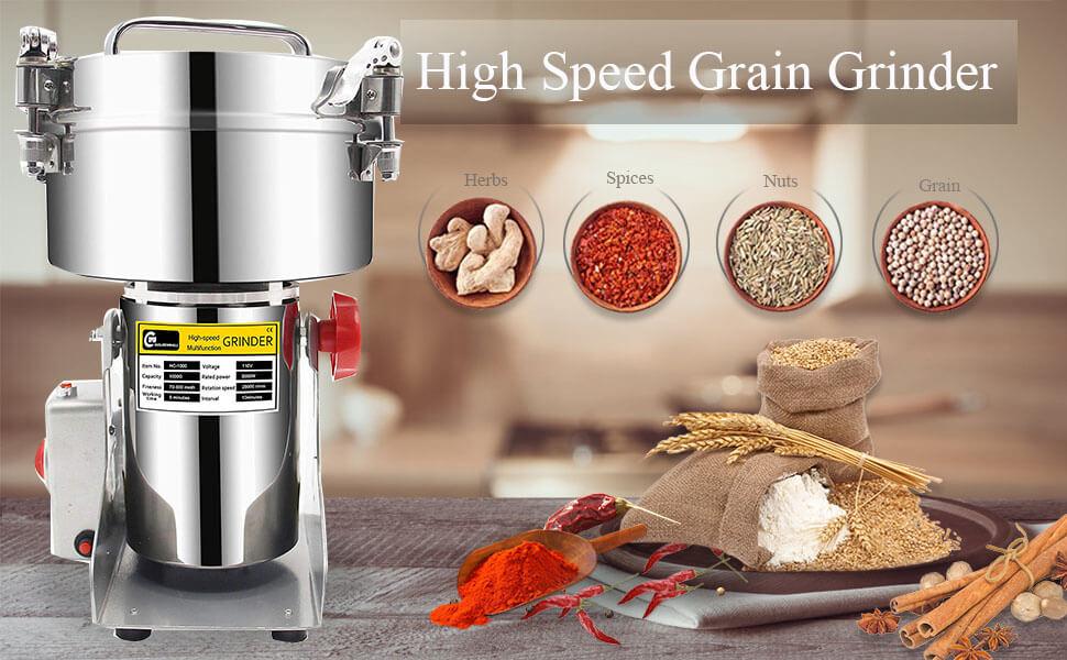 آلة طحن القهوة والأرز وجميع التوابل - متعددة الإستعمالات 2 كغ