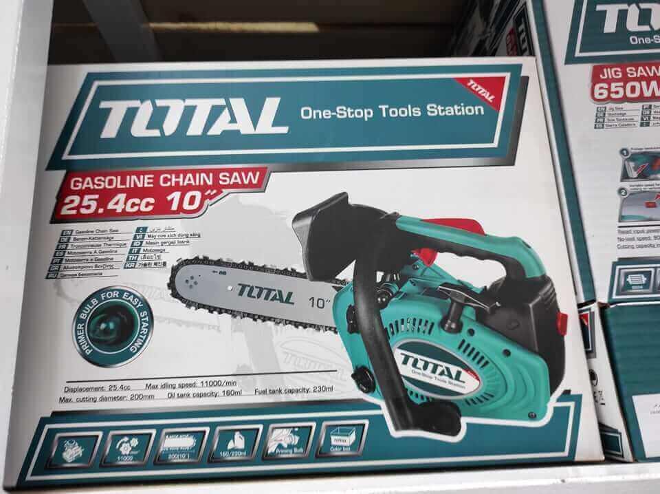 """Scie à chaîne à essence TOTAL 25"""" 45.8cc - TG5451811"""