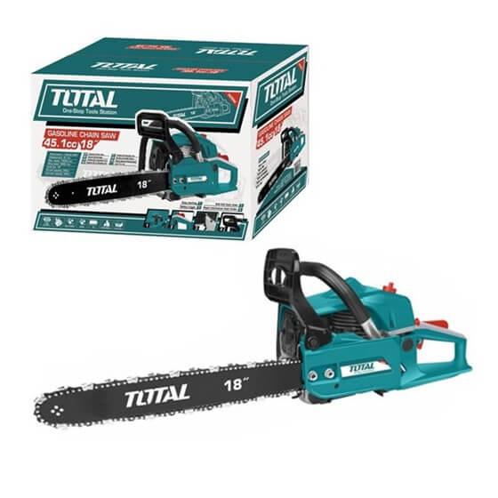 """Scie à chaîne à essence TOTAL - TG945185 18"""" 45.8cc"""