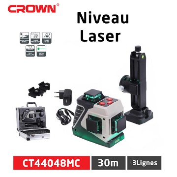 Niveau Laser 3 Lignes Crown CT44048MC