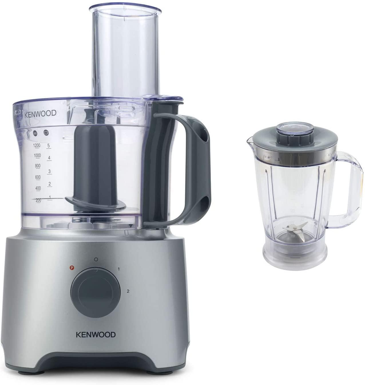 Kenwood Robot de cuisine multifonction , 800 W, 2,1 litres, argent FDP301SI