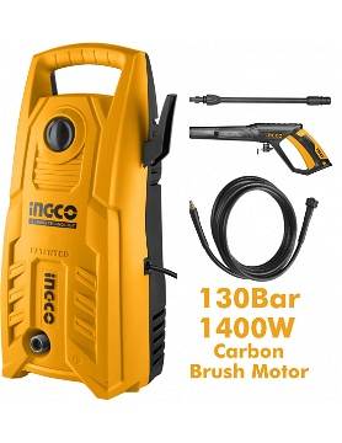 Nettoyeur haute-pression INGCO  1400W 130bar