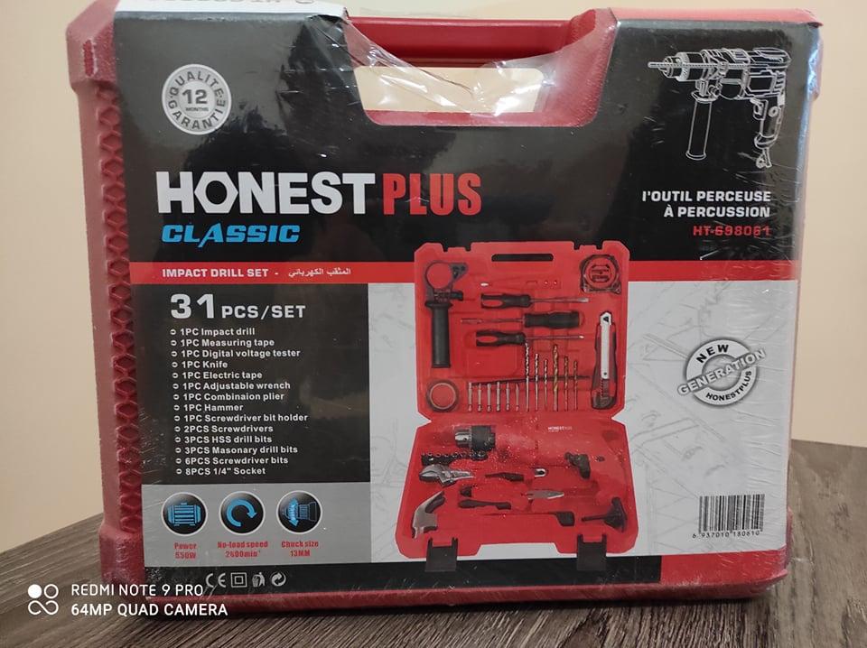 Valise à outils 31pcs Perceuse / Visseuse 550w