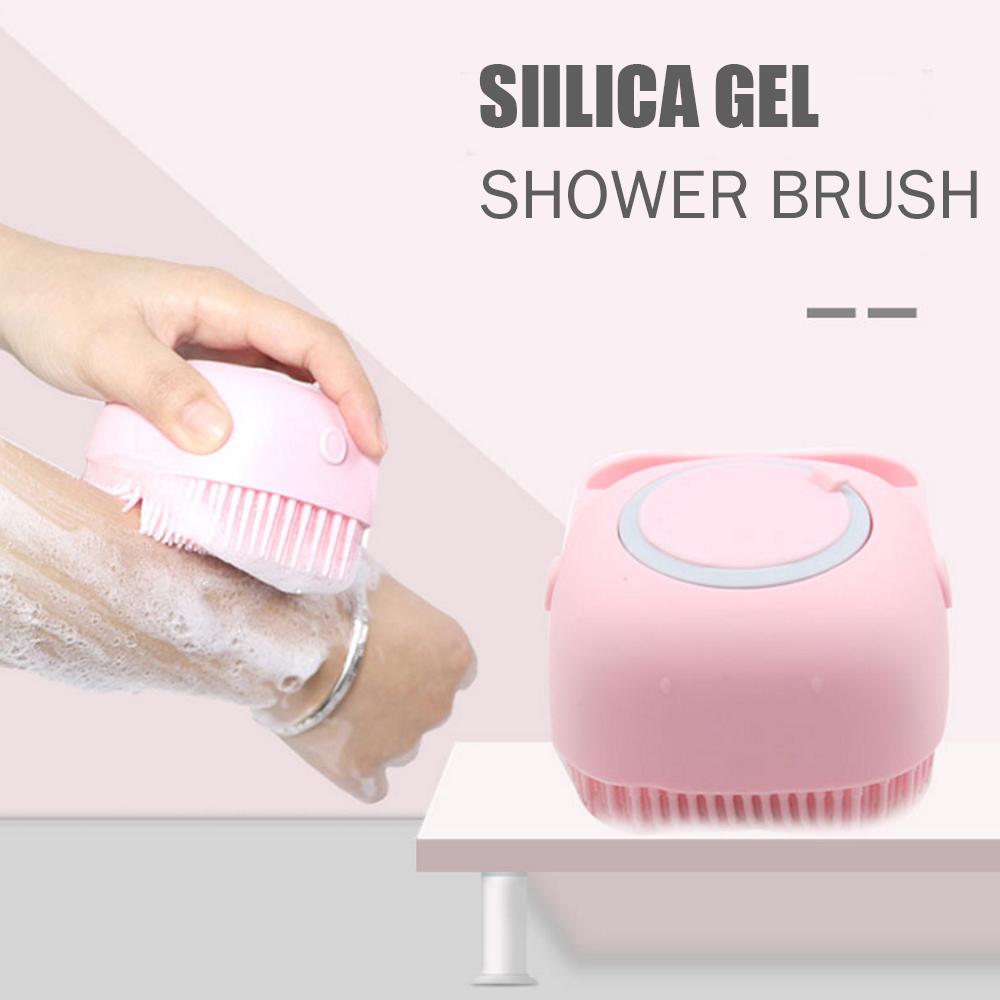 Brosse Avec Shampooing Distributeur En Silicone Souple Soies Palm Body Massage