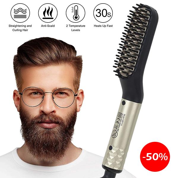 Rozia Hair Straightening Brush For Men