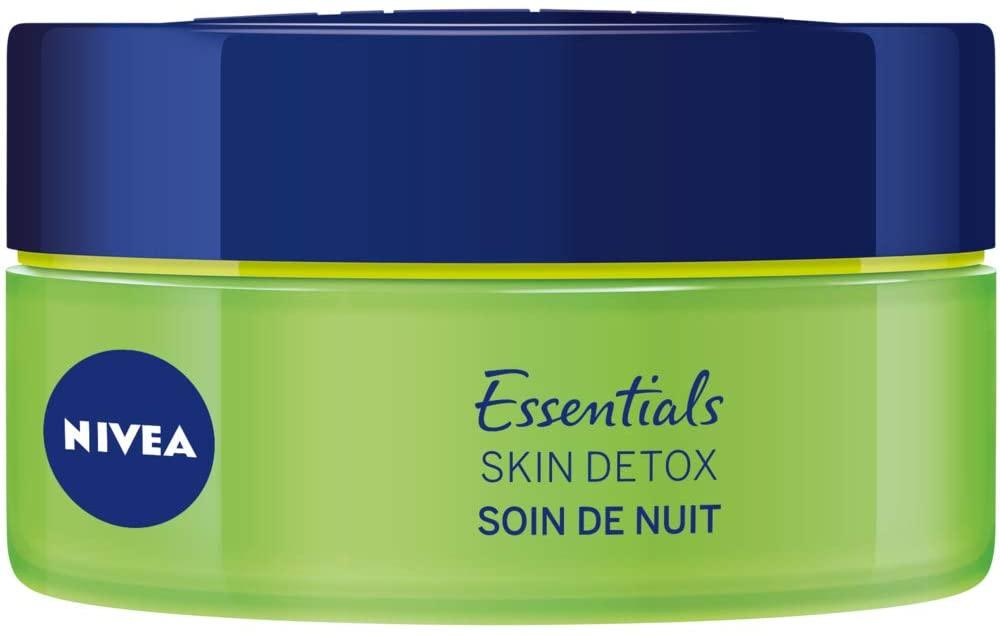 NIVEA Soin de Nuit Skin Detox + Hydratation intense 48H
