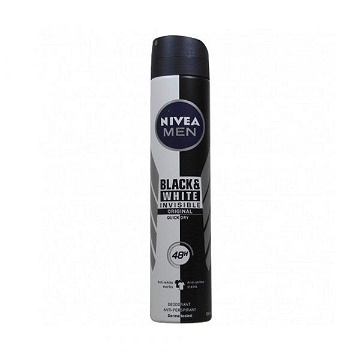 NIVEA MEN Déodorant Spray Invisible For Black & White (200ml)