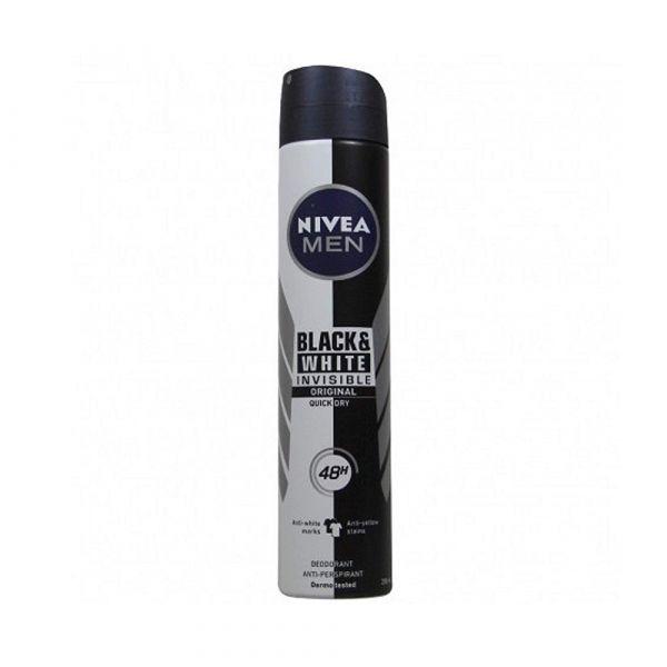 NIVEA MEN Déodorant Spray Invisible For Black & White (200ml)
