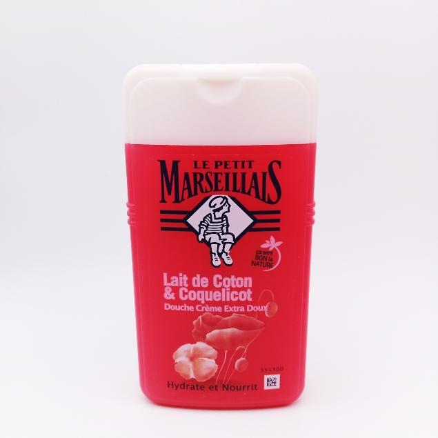 Douche Crème Lait de coton & Coquelicot Bio 250ml le petit marseillais