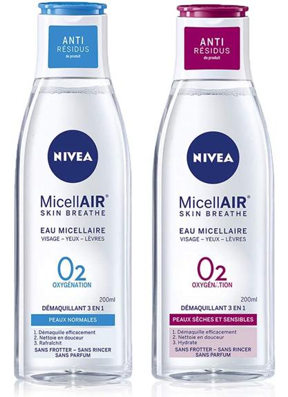 (82382 / 86698) Nivea Visage Eau Micellaire Peaux Sensible et Normale 0% 200 ml
