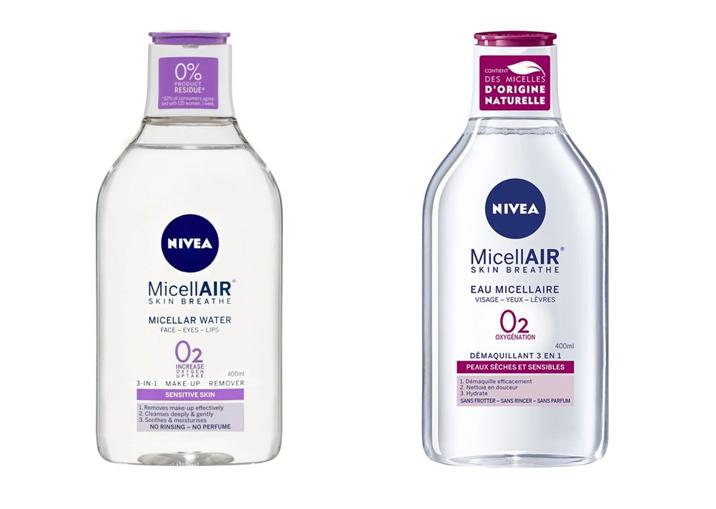 Nivea Nettoyants Micellaires Peaux Sensibles e Sèches  400 ml   نيفيا ماء ميسيلار لتنظيف البشرة الحساسة و الجافة