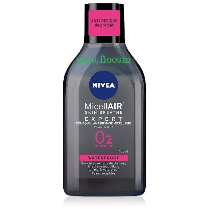 (88514/88539)  Nivea Démaquillant Micellaire Skin Expert Waterproof 200 ml et 400 ml    مزيل مكياج الوجه والعينين للمكياج المقاوم للماء لجميع انواع البشرة