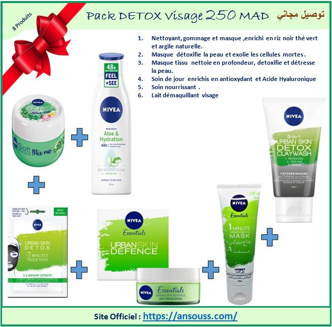 pack DETOX pour visage ( 6 articles)