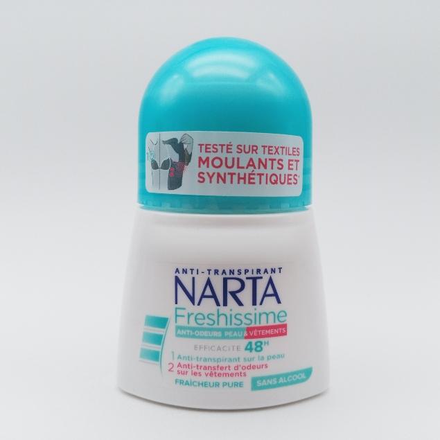 Narta Anti-transpirant - Anti-Bactérien 48h BACTI PUR FEMME 50ML