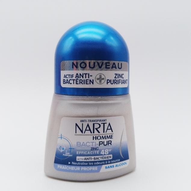 Narta - Déodorant Home Bille Anti-Transpirant Bacti-Pur Fraicheur Saine Efficacité 48h - 50 ml