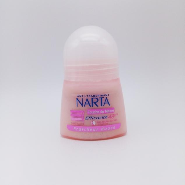 Narta Déodorant Anti-Transpirant Roll-On Touche de Nacre Fraicheur Douce 48 H - Femme 50 ML