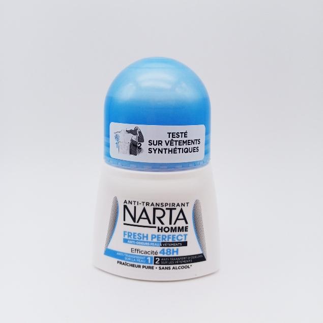 Narta Anti-transpirant - Anti-odeurs Peau et Vêtements 48h FRESH PERFECT HOMME 50ML