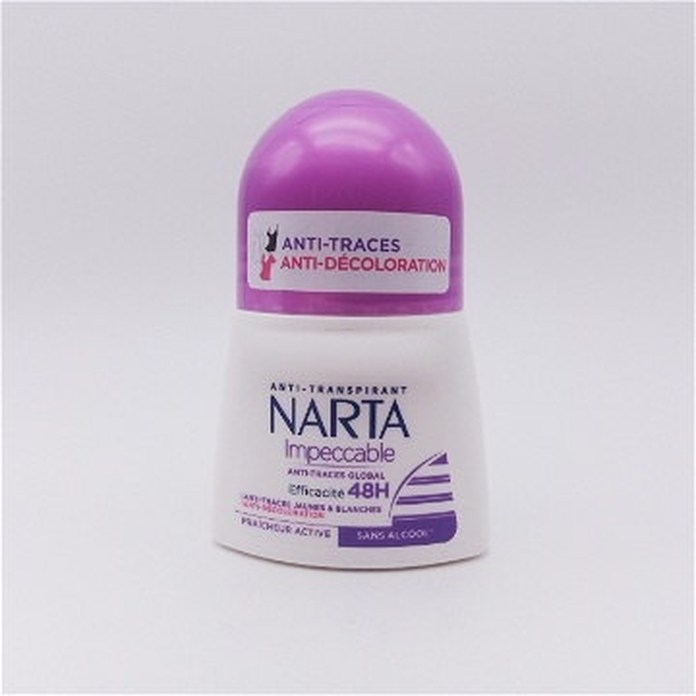 Narta Anti-transpirant - Anti-traces et Anti-décoloration 48h  IMPECCABLE FEMME 50ML