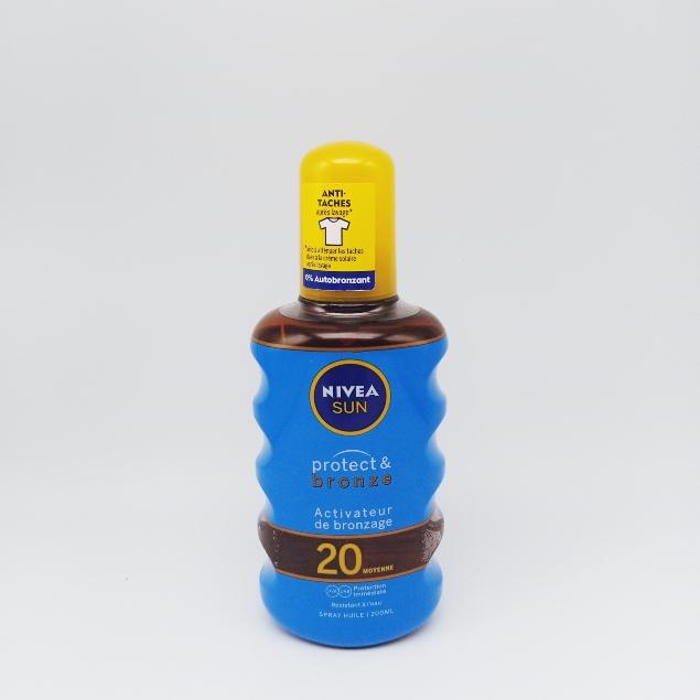 Nivea Huile sèche protectrice activatrice de bronzage SPF 20, résistant à l'eau - Le spray de 200ml