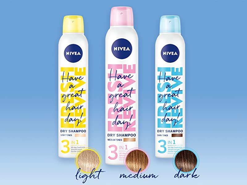 (82797/88612/88613)Nivea Shampoing Secs 3 en 1 pour les Cheveux (Foncés, Clairs et Blanc) 250 ml شامبو لجميع انواع الشعر