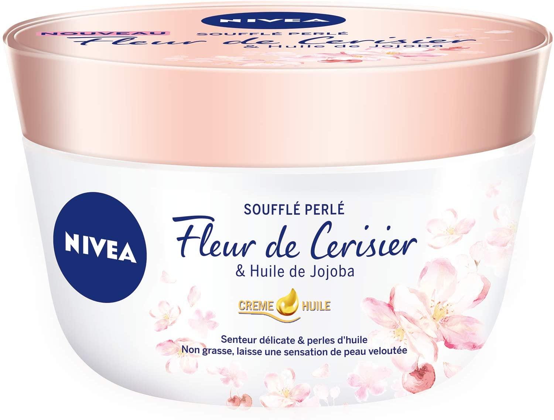 84387 Nivea Crème-Huile Soufflé Perlé Pot Fleur de Cerisier / Huile de Jojoba 200 ml