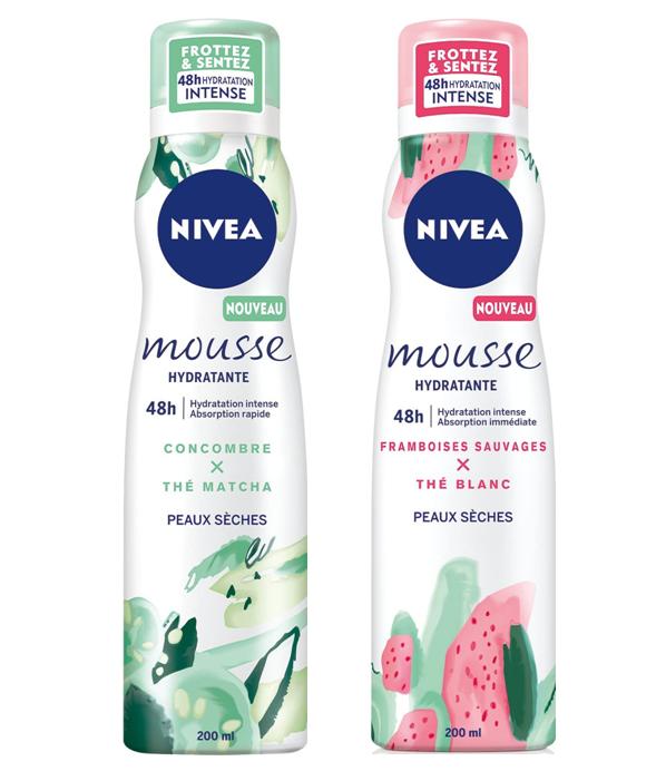 ( 83868 /88140 )Nivea Body Mousse Hydratante pour Corps Framboise et Concombre 200 ml