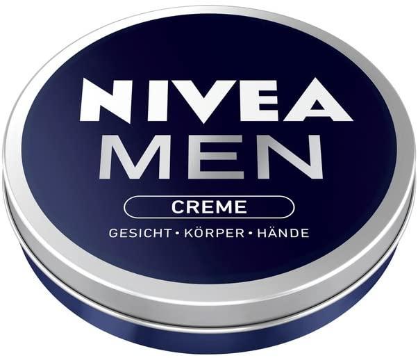 Nivea Crème Men 30 ml et 75 ml كريم  للرجال، كيرطب الوجه والجسم واليدين وكينشف بسرعة