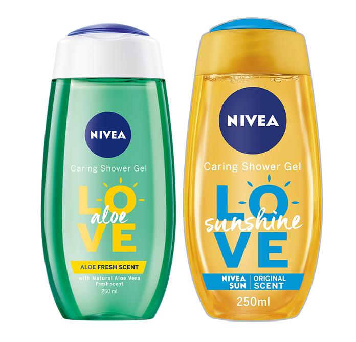 (84068 Parfum frais et estival )  (82695parfum frais et a l'aloé verra) Nivea Nourishing Shower Gel Love Adventure, 250 ml