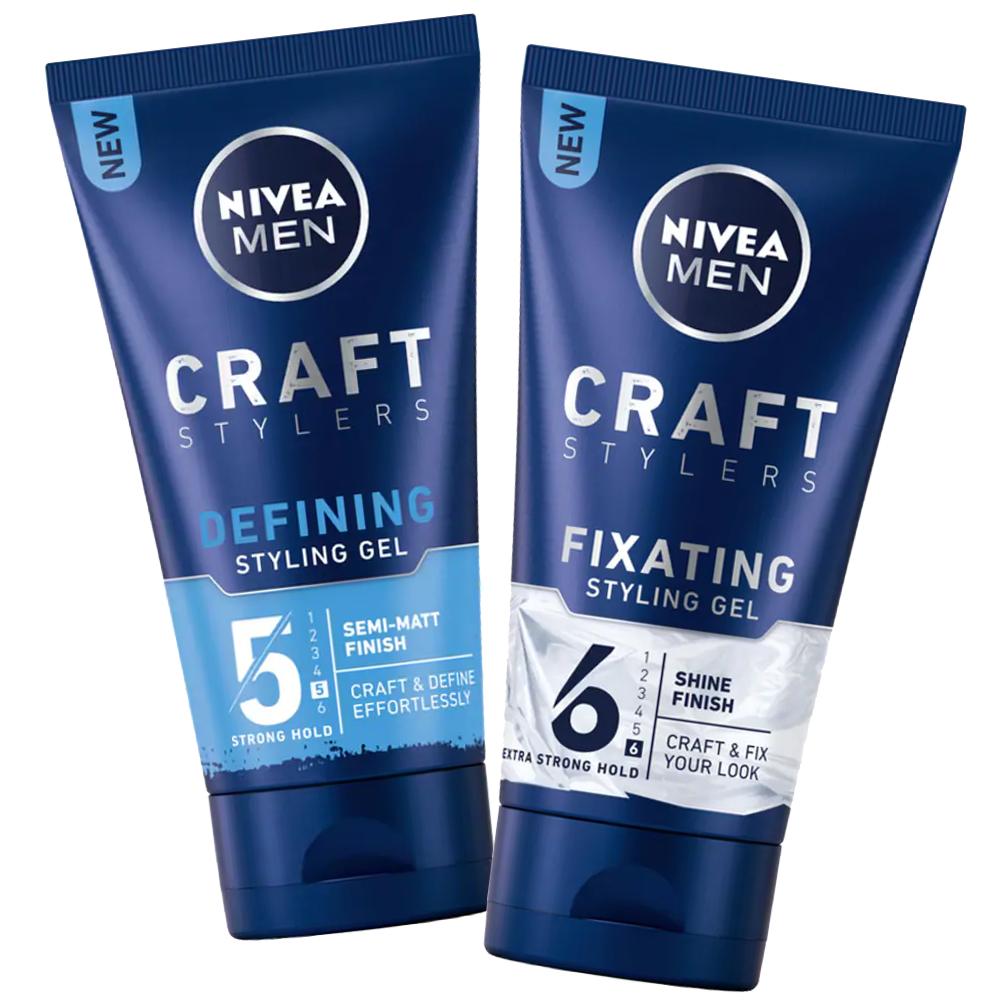 (89030/89033)Nivea Homme Gel Styling et Fixation 150 ml