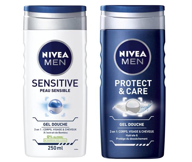 (83611 )  (81079)  Nivea Men Gel Douche Protect & Care Soin Original 250 ml