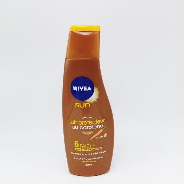 Lait protecteur au carotène au vitamine E 200ML -sun nivea
