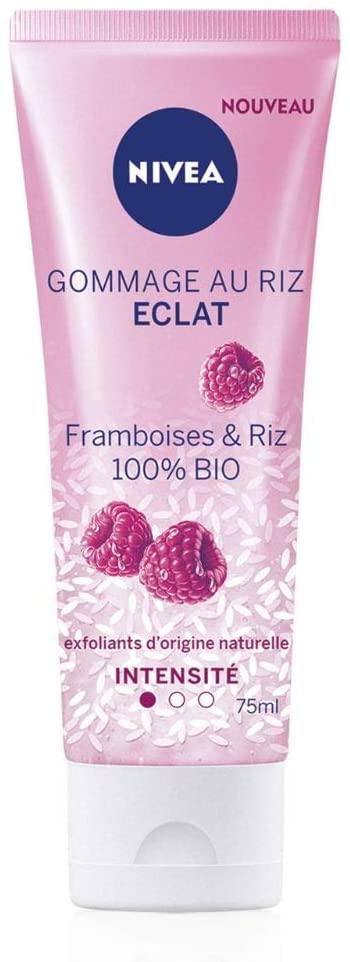 84928 Nivea Gommage au Riz Éclat Peaux Sèches et Sensibles 75 ml