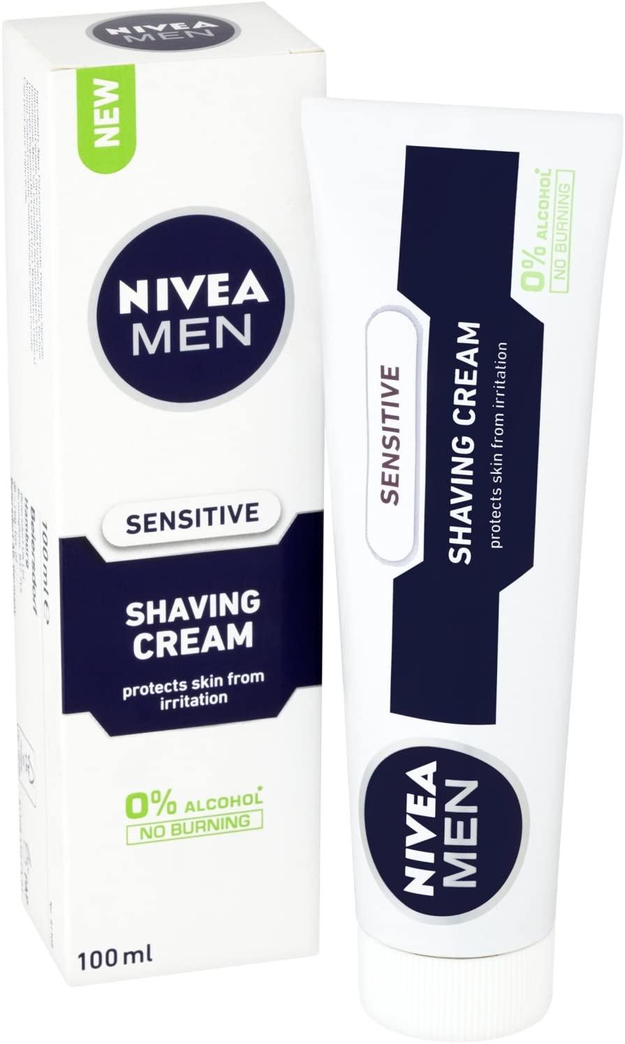 81308 Nivea Men Sensitive Shaving Cream for Men, 100 ml