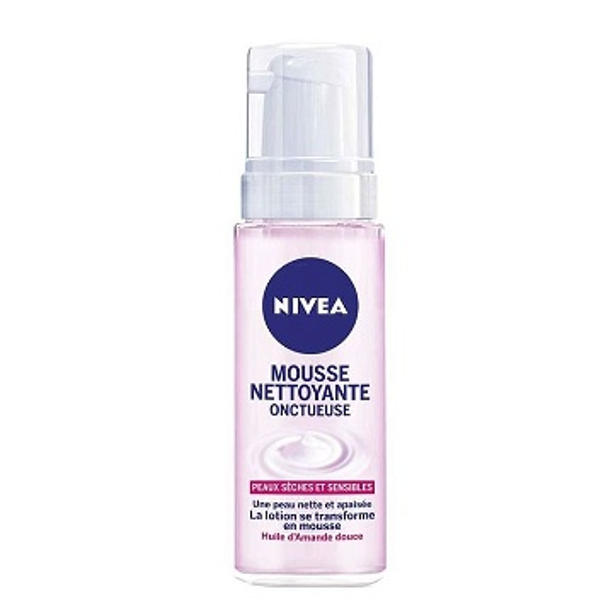 86727 NIVEA Mousse nettoyante onctueuse peaux séches & sensibles 150 ml