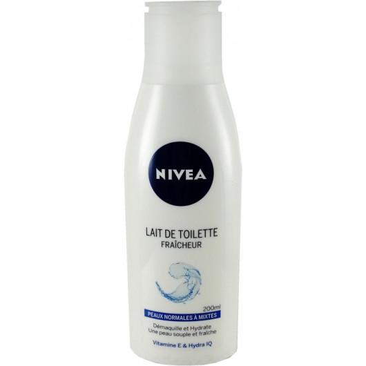 81100 Nivea Lait démaquillant 200 ML Fraîcheur peaux normales à mixtes